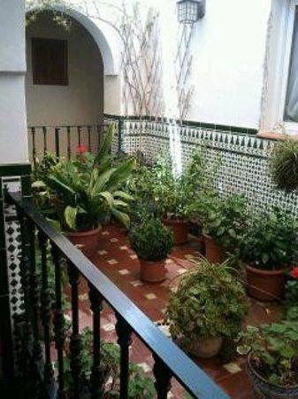 Hostal San Juan: Uno de los patios andaluces interiores, camino de las habitaciones