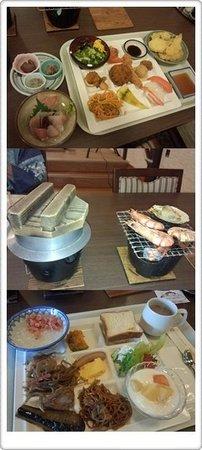 Misasa Royal Hotel: 夕食と朝食