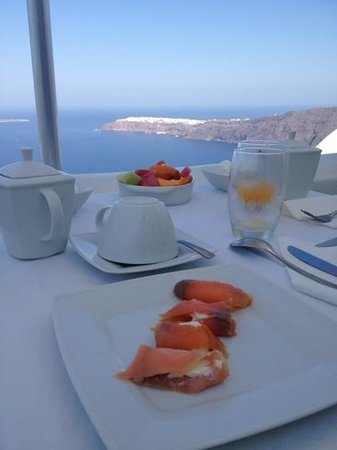 Above Blue Suites: Desayuno en heaven suite