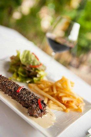 Phka Villa : Peper Steak with Red wine