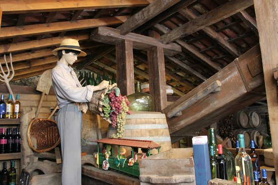 Casa de Los Balcones: Exposición de vinos