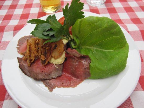Krogers Familiehave: Perfect roastbeef open sandwich