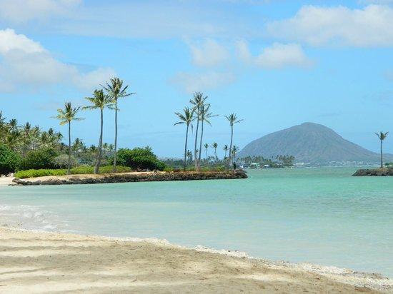 Kahala Beach: Beach near the hotel