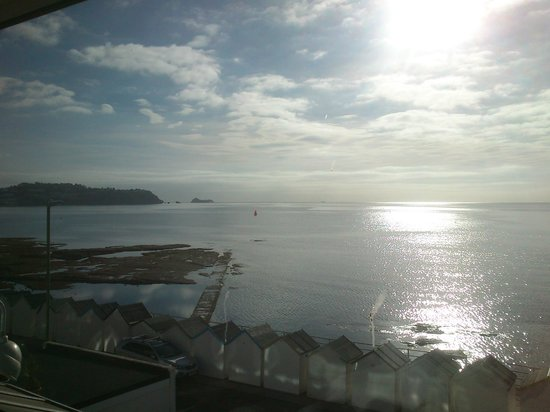 The Torbay Sands Hotel: Looking East from our hotel room window,