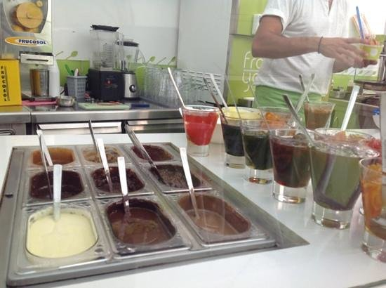 Toppings at Froyo