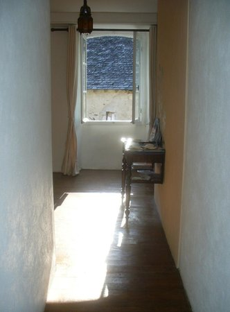 Maison Bergoun : sunlight in the hallway - parts of the house are 1,000 years old!