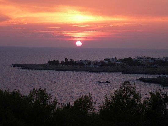 Cala D'Aspide Resort: Splendidi tramonti dalla terrazza