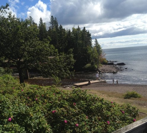 Lutsen Resort on Lake Superior: Partial view of beach  it is much longer than this.