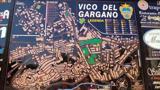 Vico del Gargano : Lageplan