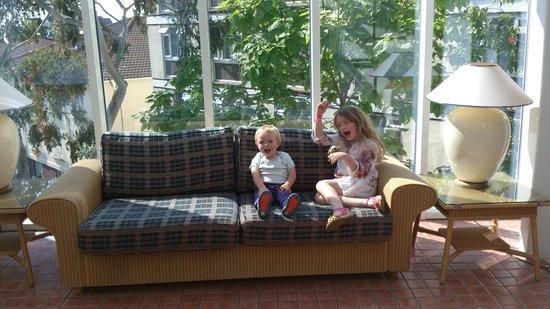 Merton Hotel: My kids having fun