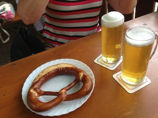 Beer & Pretzel at Neckarmuller