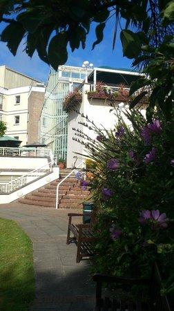 Merton Hotel: View from garden
