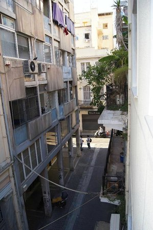 Athens Cypria Hotel: View from room at rear of hotel