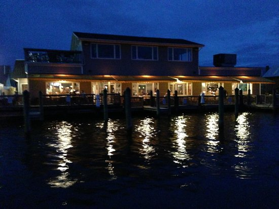 Kingfishers Seafood Bar and Grill : View from water