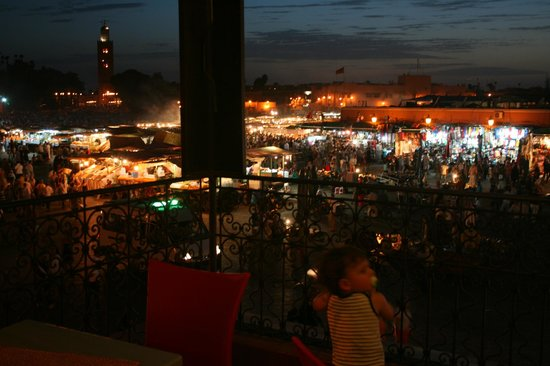 Aqua : Great view over Jemaa El Fna from the terrace