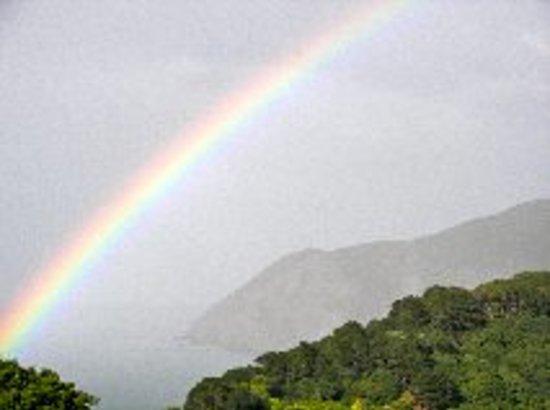 Sinai House: Rainbow over the bay