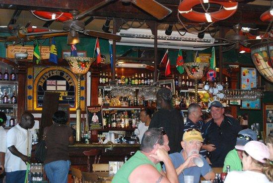 Pusser's: People having fun near the bar.