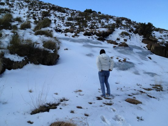 AVANI Lesotho Hotel & Casino: playing in the snow