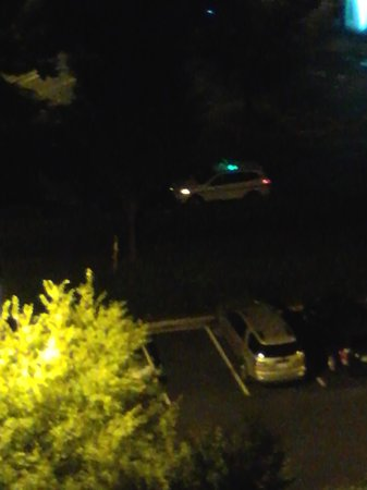 Renaissance Charlotte Suites Hotel: Security patrol van is marked with a green light