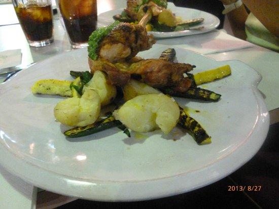 Jamie Oliver's Fifteen: pollo al pesto con verdure