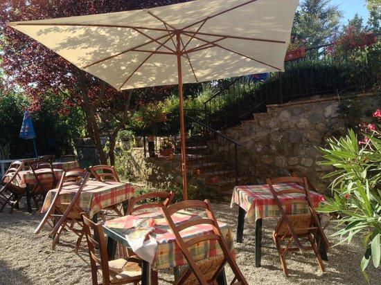 Ristorante La Fattoria Bellandi : Il giardino del ristorante