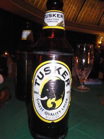 Severin Sea Lodge: Leckeres kenianisches Bier - Tusker