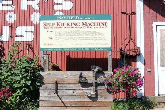 Hauser's Superior View Orchard: Self-kicking machine