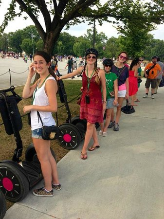 Segs in the City: Getting ready for lift off outside the Lincoln Memorial