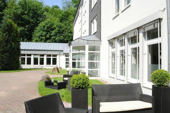 Eingang hotel friends Mittelrhein
