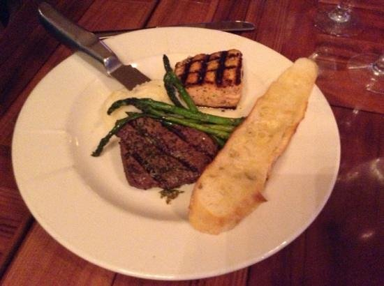 4oz  Filet & Salmon for $28 - Picture of Paradise Landing