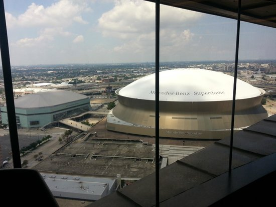 Hyatt Regency New Orleans: A View of the Dome from the Fitness Center...Very Close