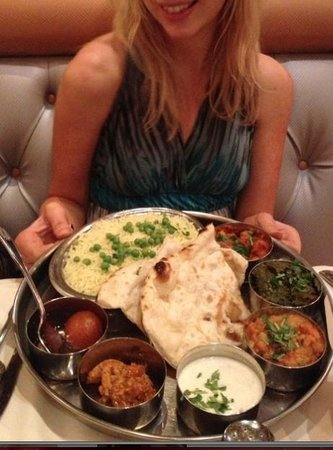 Royal India Bistro: Vegetable Thali. Highly recommend!