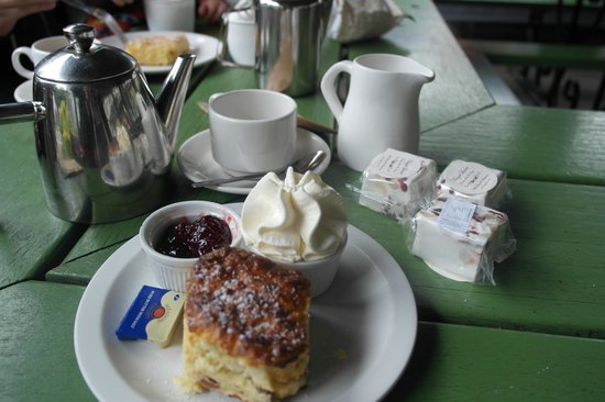 Alpine Coffee Shop: Tea for Two and Scones with Fresh Cream and Jam