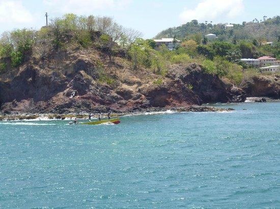 Windjammer Landing Villa Beach Resort: beautiful sea