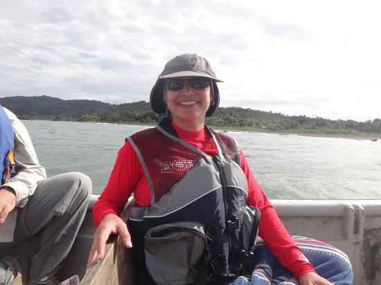 El Almejal Lodge & Natural Reserve: La super pesca mientras avistabamos ballenas