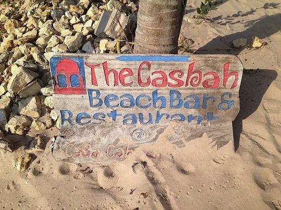 Casa Cabana Beach : Sign for the Casbah beach bar at the hotel