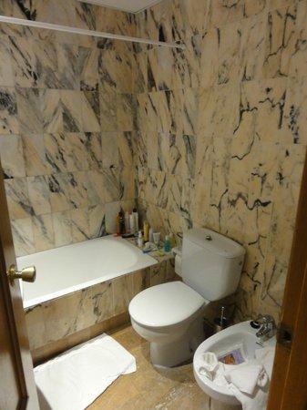 Hotel Ayron Park: Bad/toilet/bidet
