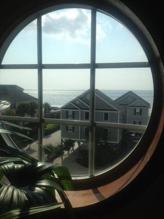 Sandy Shores III: View from the upstairs window