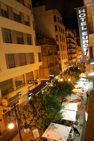 Hotel Europa: Vista su calle Ribera