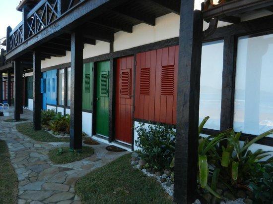 Chez Pitu Praia Hotel: Quartos do primeiro andar