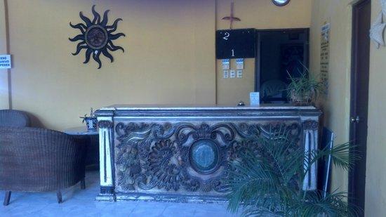 Ecohotel Flamingo Playa: recepcion