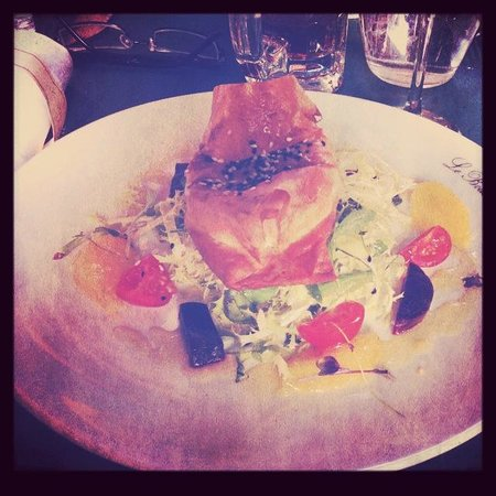 Le Boudin Blanc: Goat cheese starter