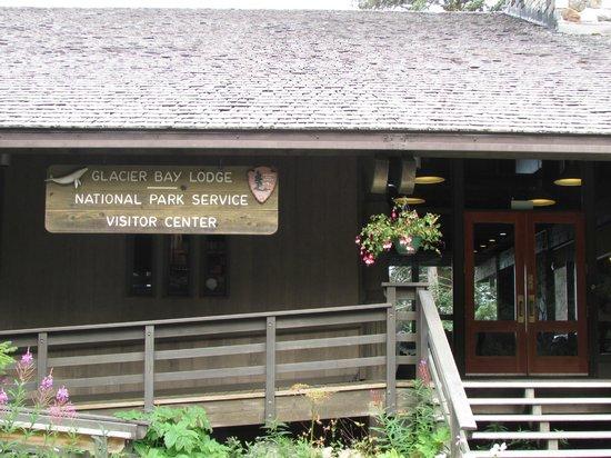 front of Glacier Bay Lodge