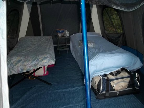 luxury tent camping, with soft floor. - picture of adventure bound