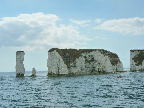 Old Harry Rocks from the boat