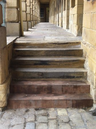 The Piece Hall: Steps on the lower level