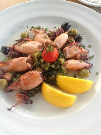 Galeb: Grilled squid