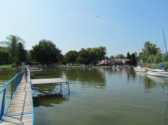 Bungalow Park: Мостик для быстрого подхода к более-менее глубокой воде