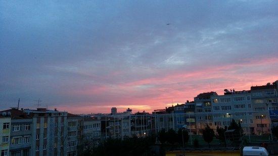 Leda Flats: The view from the master bedroom on Akağalar Caddesi