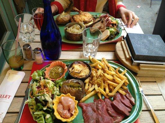 Amour de Pomme de Terre: Vue globale des deux magnifiques plats! hum...
